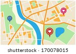city map with valentine marker | Shutterstock .eps vector #170078015