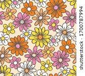 retro palette hand drawn felt... | Shutterstock .eps vector #1700787994