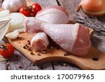 raw chicken legs and marinade... | Shutterstock . vector #170079965