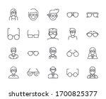 set of eye glasses related... | Shutterstock .eps vector #1700825377
