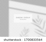 shadow overlay effect. leaves... | Shutterstock .eps vector #1700833564