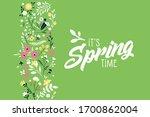 spring banner. vector... | Shutterstock .eps vector #1700862004