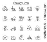 ecology icon set in thin line... | Shutterstock .eps vector #1700862604