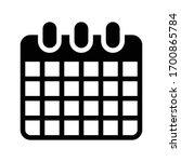 calendar vector glyph flat icon