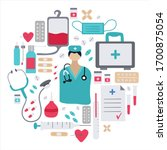 medical set concept with icons... | Shutterstock .eps vector #1700875054