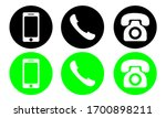 phone icon vector. set of flat... | Shutterstock .eps vector #1700898211