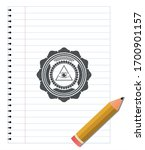 illuminati pyramid icon emblem...   Shutterstock .eps vector #1700901157