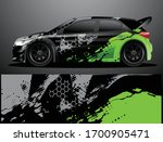 rally car decal graphic wrap...   Shutterstock .eps vector #1700905471
