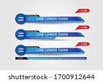 lower third tv news bars set... | Shutterstock .eps vector #1700912644
