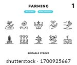 farming outline icons pack for...
