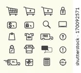shopping online icons | Shutterstock .eps vector #170092571
