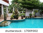 beautiful swimming pool in the... | Shutterstock . vector #17009302