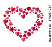 valentine's day hearts. vector... | Shutterstock .eps vector #170094269