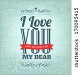 typographic valentines design... | Shutterstock .eps vector #170095415