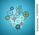 abstract vector cogs   gears... | Shutterstock .eps vector #170095937