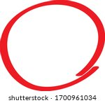 red circle pen draw. highlight... | Shutterstock .eps vector #1700961034