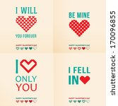 happy valentines day cards with ... | Shutterstock .eps vector #170096855