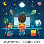 using technology for education... | Shutterstock .eps vector #1700984161