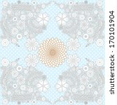 modern invitation card on polka ... | Shutterstock . vector #170101904