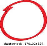red circle pen draw. highlight... | Shutterstock .eps vector #1701026824