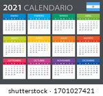 vector template of color 2021... | Shutterstock .eps vector #1701027421