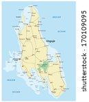 zanzibar road map | Shutterstock .eps vector #170109095