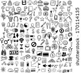 set of sketch icons for site or ... | Shutterstock .eps vector #170114135