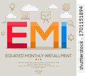 emi mean  equated monthly... | Shutterstock .eps vector #1701151894