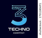 number three technology vector... | Shutterstock .eps vector #1701180691
