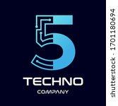 number five technology vector... | Shutterstock .eps vector #1701180694