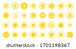 sun flat cartoon icon set.... | Shutterstock .eps vector #1701198367