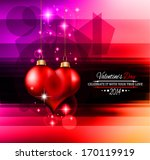 valentine's day template with... | Shutterstock .eps vector #170119919