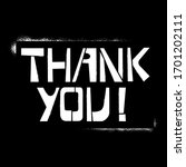 thank you stencil lettering in... | Shutterstock .eps vector #1701202111