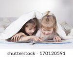 two sisters reading bad time... | Shutterstock . vector #170120591