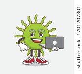 an illustration of green virus... | Shutterstock .eps vector #1701207301