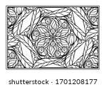black and white decorative... | Shutterstock .eps vector #1701208177