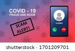 Illustration Of Covid 19 Fraud...