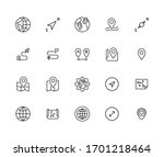 icon set of geography. editable ... | Shutterstock .eps vector #1701218464