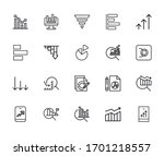vector line icons collection of ... | Shutterstock .eps vector #1701218557