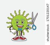 an illustration of green virus... | Shutterstock .eps vector #1701220147
