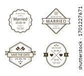 collection set of vintage... | Shutterstock .eps vector #1701227671