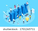 isometric vector image on a... | Shutterstock .eps vector #1701265711