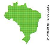map of brazil made of green... | Shutterstock .eps vector #170126669