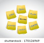 success words posts... | Shutterstock . vector #170126969