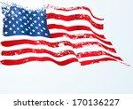 usa  american flag in grunge | Shutterstock .eps vector #170136227