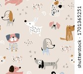 Childish Seamless Pattern With...
