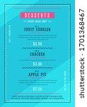 bakery menu design. template of ... | Shutterstock .eps vector #1701368467