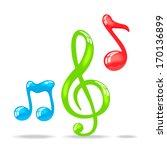 music note   Shutterstock .eps vector #170136899