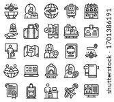 tourism manager icons set.... | Shutterstock .eps vector #1701386191