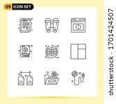 9 user interface outline pack...   Shutterstock .eps vector #1701424507